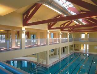 Indoor Pool and indoor running track at Town Center Pelican Preserve