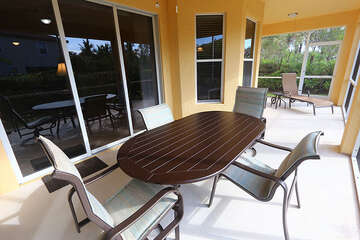 Screened in Lanai with dining area