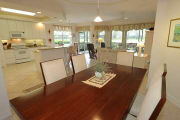 Dining Room seating for 6 with views of the kitchen