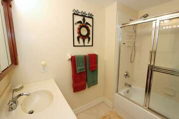 Guest Bathroom with shower and tub combination