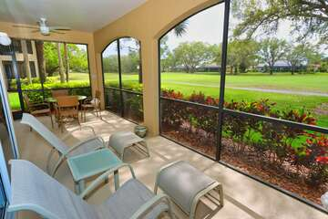 Screened in large lanai over looking Golf Course