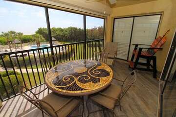 Nice view from your private screened lanai.