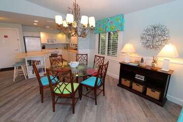 Sit with family around this dining table and share your thoughts at mealtime.