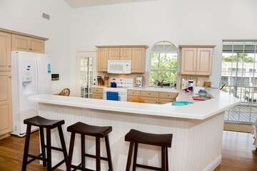 Newly updated kitchen offers lots of natural light.