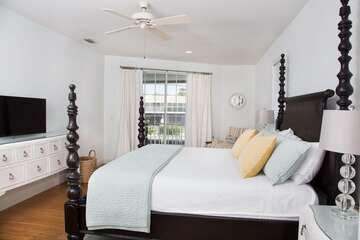 Master bedroom large and spacious with natural light.