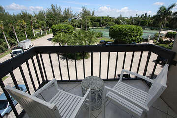 View from master bedroom private deck.