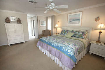 Spacious master bedroom.
