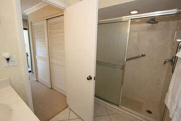 Easy access shower in master bathroom