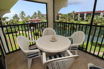 Screened lanai is a fantastic place to sit and take it all in!