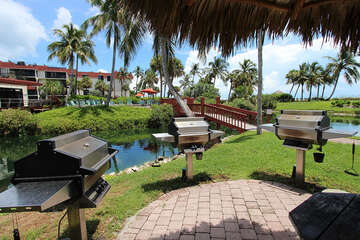 BBQ grill are located throughout the complex for those much desired family cookouts
