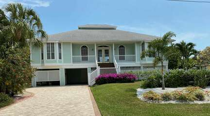 Exterior view of this lovely home located in close proximity to the beaches!