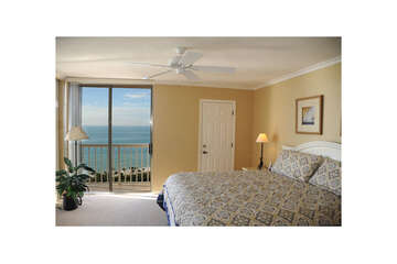 Master bedroom with breathtaking views of the Gulf of Mexico.