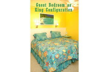 Guest Bedroom 1 offers a King configuration option.