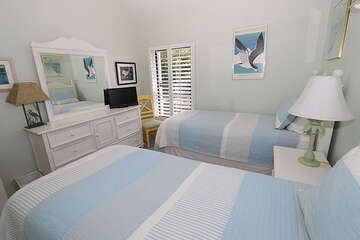 Guest bedroom comfortable and inviting for those tired vacationers!