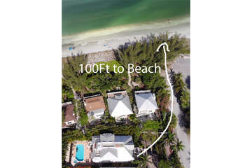 Luxurious oasis for island living positioned at the end of Andy Rosse Lane just 75 feet from the Gulf of Mexico.