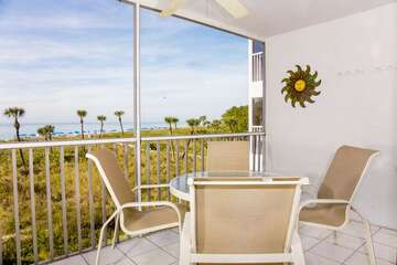 Screened lanai with fantastic Gulf views!