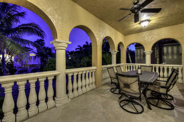 Patio with views of Andy Rosse Lane
