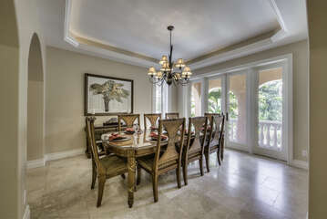 Formal dining room for those lovely dinners after a day at the beach
