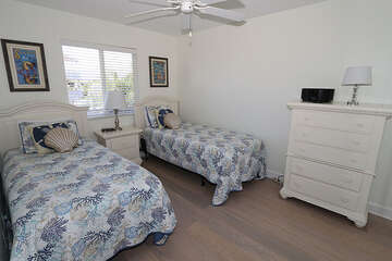 Guest Bedroom with 2 XL Twin Beds.