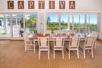 Dining area is large enough for the entire family and friends to join in for meals!