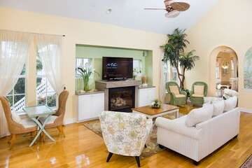 Spacious living area with room for the entire family.