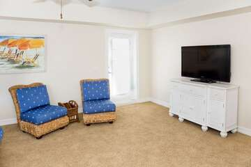 Master Bedroom TV and Seating.