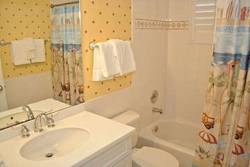 Guest bathroom 2 is nicely decorated and clean!