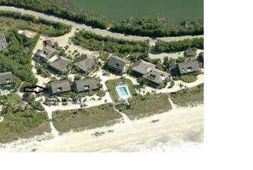 Arial view of the property location.