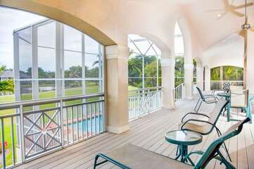 The spacious back deck to sit and enjoy the perfect Florida weather.