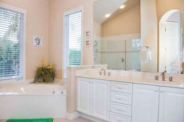 Master bathroom with sunken tub for the bubble bath times!
