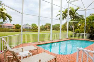 Cool and inviting pool for the entire family to enjoy on those hot Florida days!