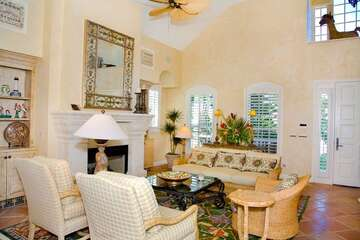Large living area with plenty of seating for the entire family.