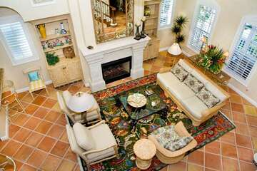 Other amenities in this luxury home include a decorative fireplace, plantation shutters, 6 flat screen TVs, 5 DVDs, stereo w/CD player and surround sound, elevator, gas BBQ, free wi-fi, beach towels and 2 washer/dryers.