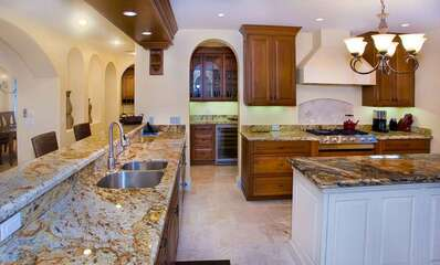 Upscale Kitchen with Granite Counter-tops.