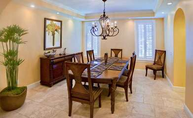 Your Family Can Enjoy a Feast in the Formal Dining Room.