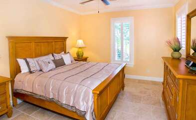 Delightful King Bedroom located in the Guest house.