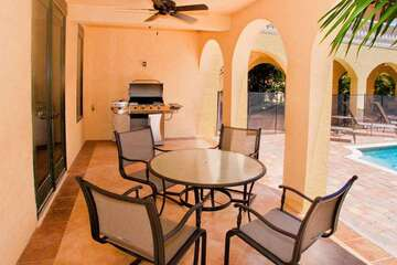 If you can't get the kids out of the pool, grill your dinner on the gas BBQ and sit at the outdoor Dining Area.