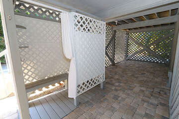 Outdoor shower area for your convenience