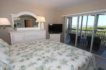 Master bedroom with a view of the Gulf of Mexico