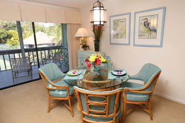 Dining area for a relaxing meal