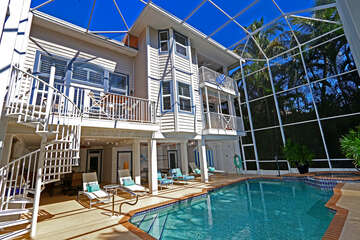 Beautiful screened lanai and pool area large enough for the entire family to enjoy!