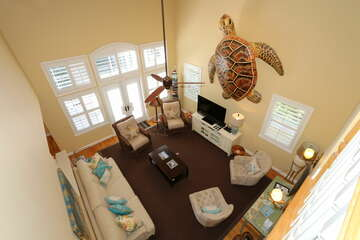 Above View of Living Room.