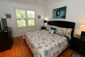 Guest bedroom 1 offers a comfortable king bed and plenty of space!