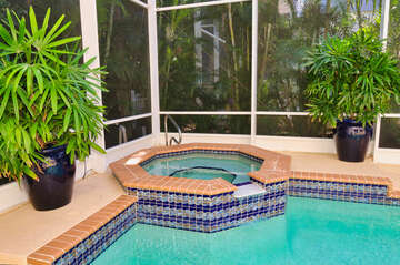 Bubble your stress away in this spacious hot tub!