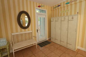 Main floor lockers and beach towels located right off the pool deck!