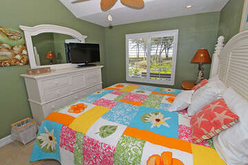 Master room offers natural light and view to the Gulf.