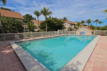 Community pool is large and inviting on those hot Florida days!