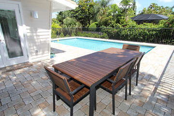 Outside Pool Dining area