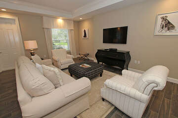 Open living room with comfortable seating