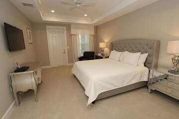 Master bedroom with walk-out porch
